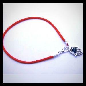 Jewelry - New Red String Hamsa + Evil Eye Protection Bracele
